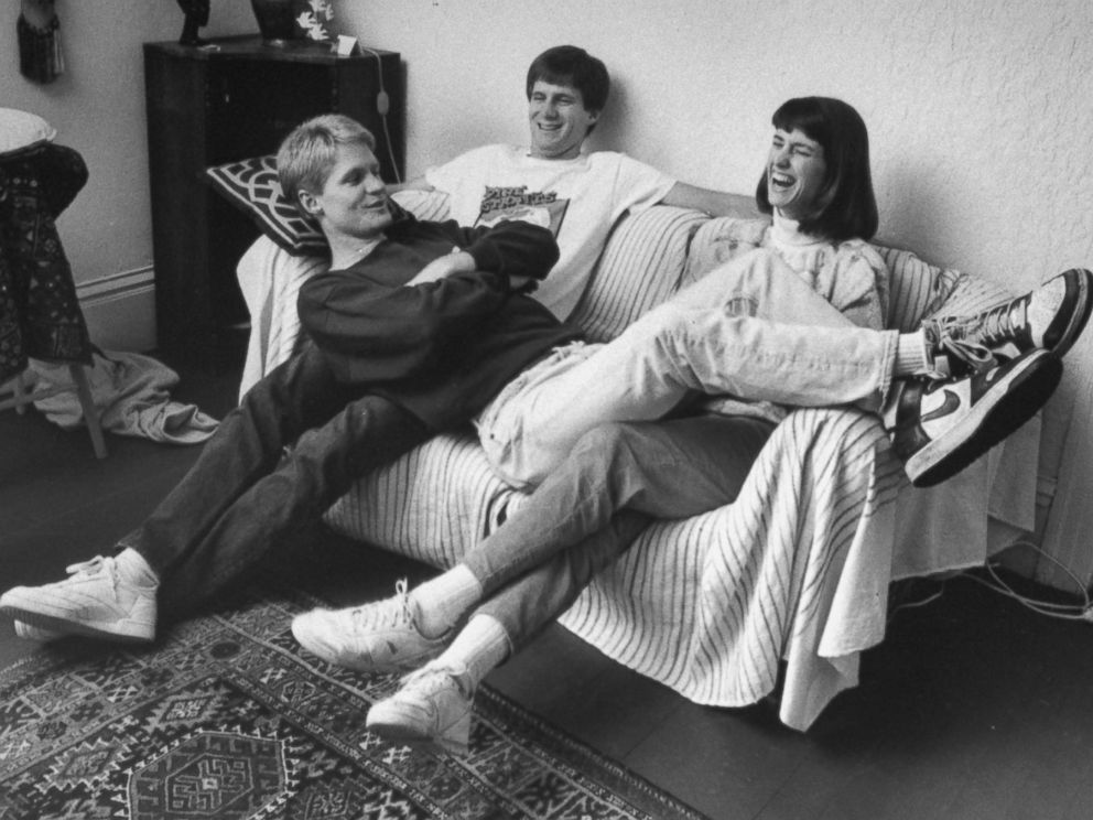 PHOTO: Basketball player Steve Kerr of University of Arizona with his brother, John and sister, Susan, in 1988.