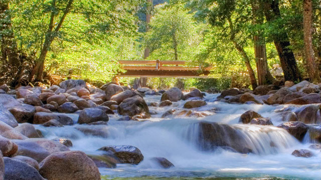 PHOTO: A 10-year-old boy died and his 6-year-old brother was missing after they were swept away near Vernal Fall Bridge across the Merced River, in Yosemite Park, California, National Park officials said, Aug. 16, 2012.