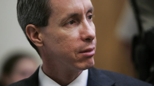 PHOTO: Warren Jeffs looks over at the jury during his trial September 25, 2007 in St. George, Utah. Jeffs, an accused polygamist and head of the breakaway Mormon sect, the Fundamentalist Church of Jesus Christ of Latter Day Saints, is being charged on two