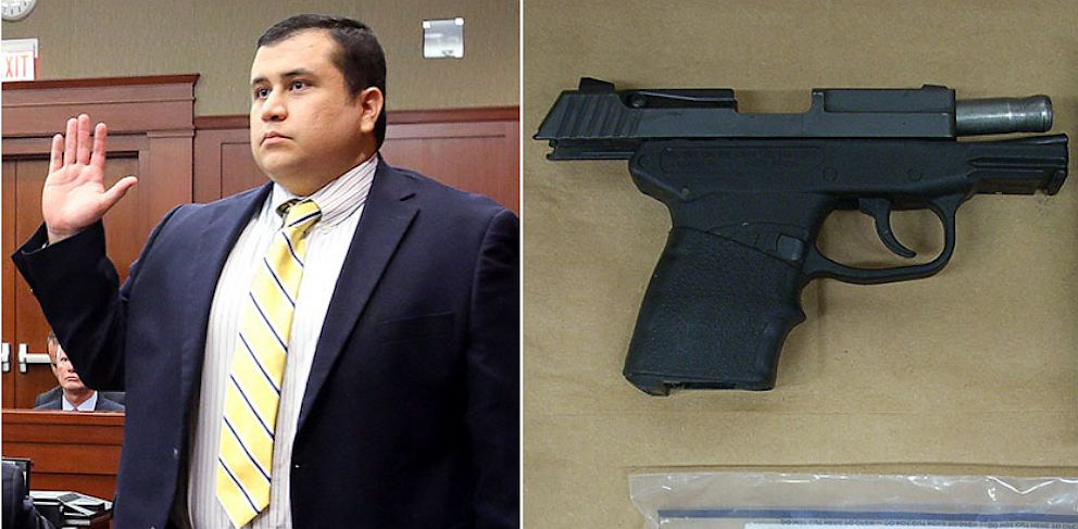 PHOTO: George Zimmerman and George Zimmermans Kel Tec PF-9 9mm handgun.