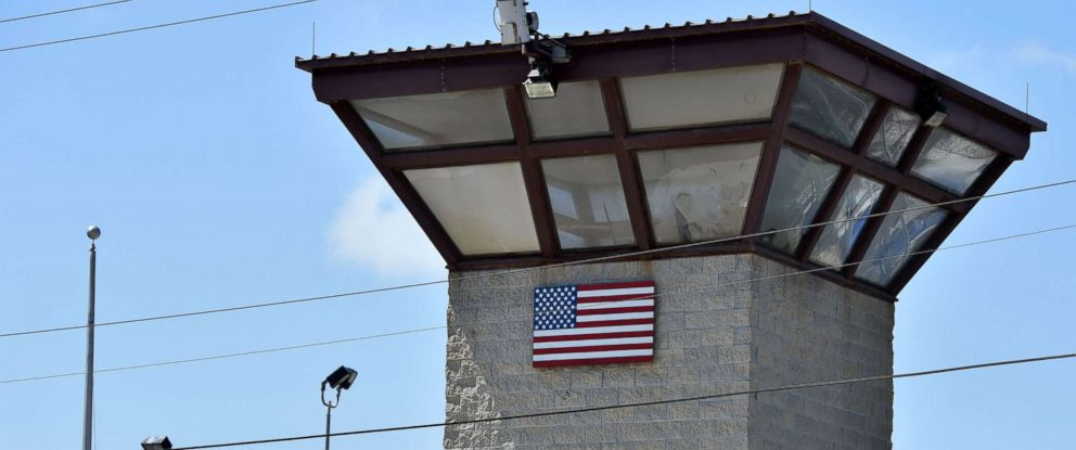 "PHOTO: The watch tower of ""Camp 6"" detention facility at the US Naval Station in Guantanamo Bay, Cuba, April 8, 2014."