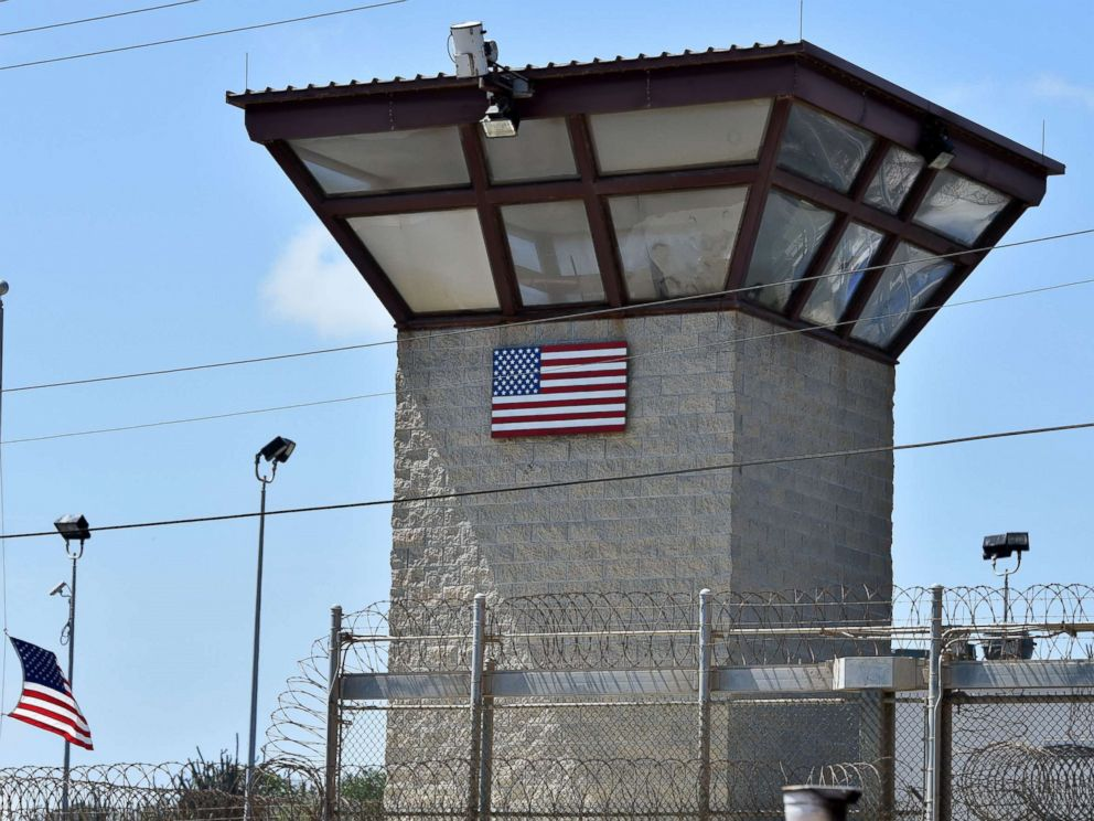 PHOTO: The watch tower of Camp 6 detention facility at the US Naval Station in Guantanamo Bay, Cuba, April 8, 2014.