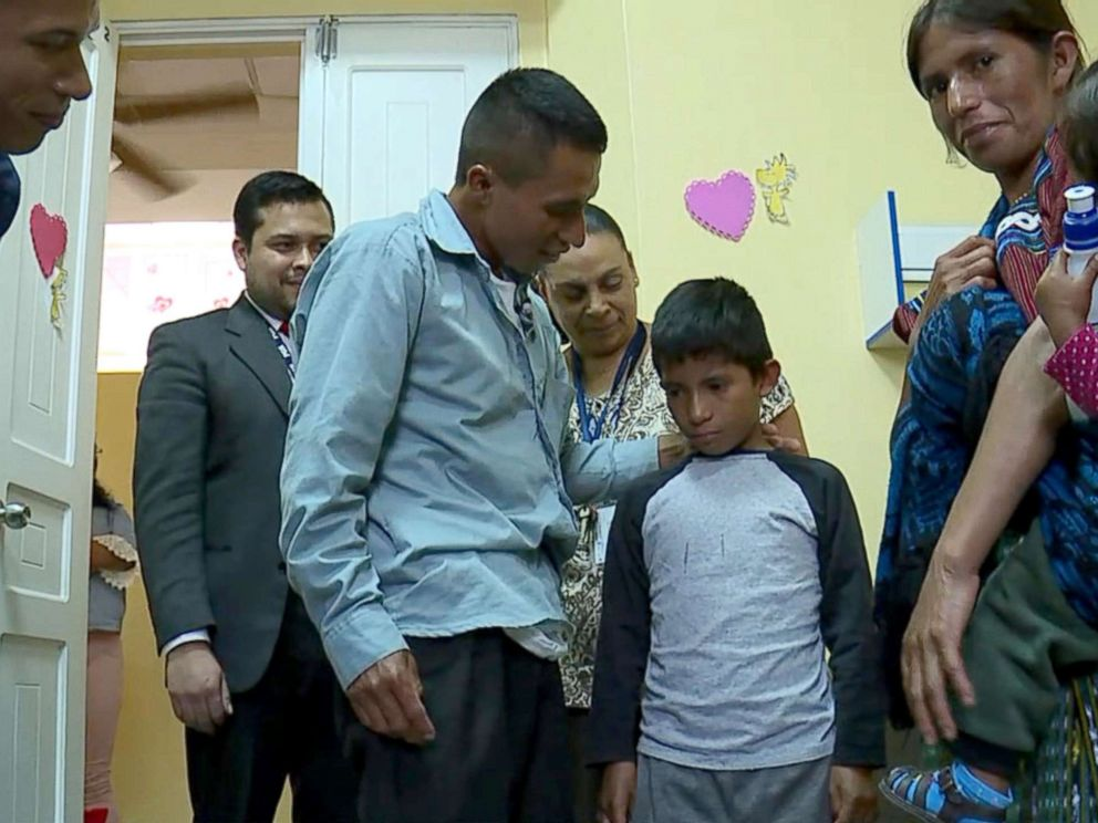PHOTO: Samuel, a 10-year-old Guatemalan boy, reunited with his parents Wednesday, June 20, 2018, in his home country more than eight months after he was separated from his father.