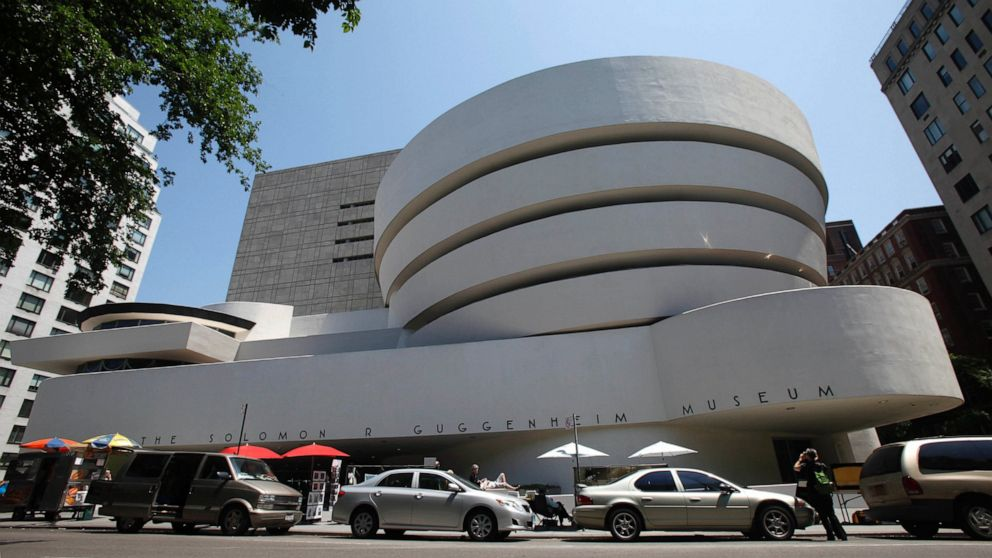 This May 31, 2011 file photo shows the exterior of Frank Lloyd Wright's Solomon R. Guggenheim Museum in New York.