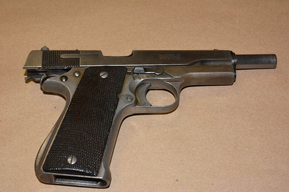 PHOTO: Paul Steber was in possession of two firearms, a 9mm semi-automatic pistol and a black powder/percussion double-barrel 12-gauge shotgun.