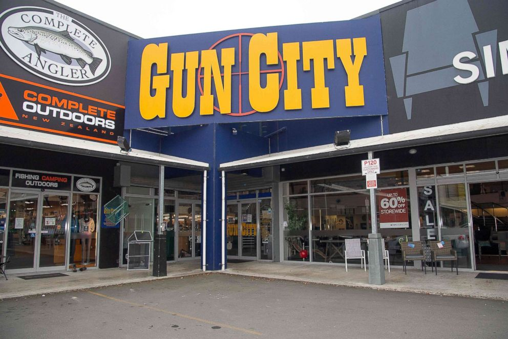 PHOTO: The Gun City store on the outskirts of Christchurch, March 18, 2019.