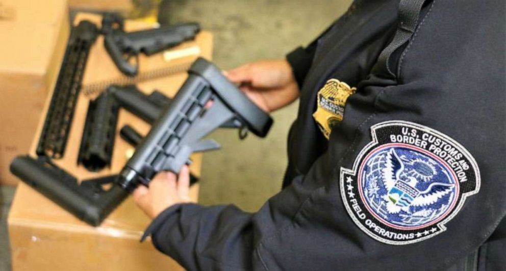 PHOTO: U.S. Customs and Border Protection seized 52,601 firearms parts at the Los Angeles/Long Beach Seaport.