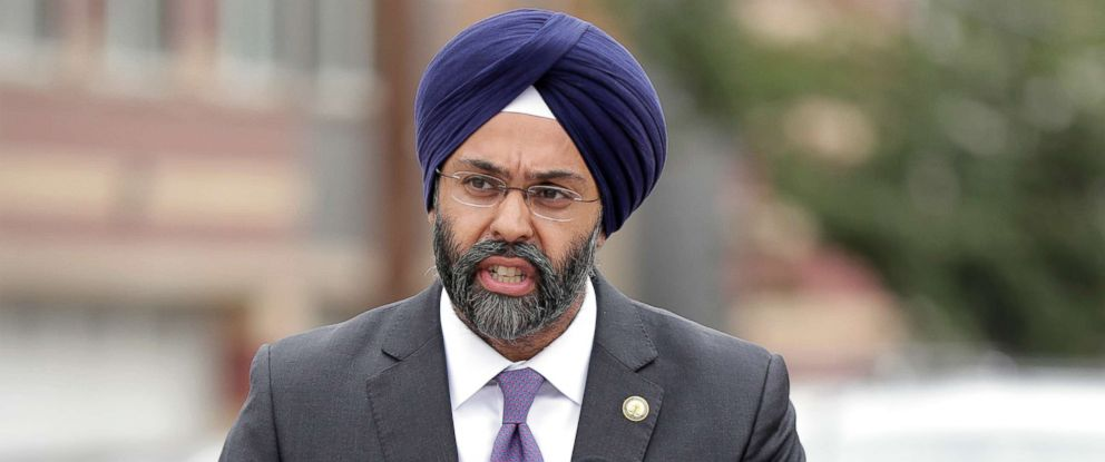 PHOTO: New Jersey Attorney General Gurbir Grewal speaks during a news conference in Newark, N.J., Aug. 1, 2018.