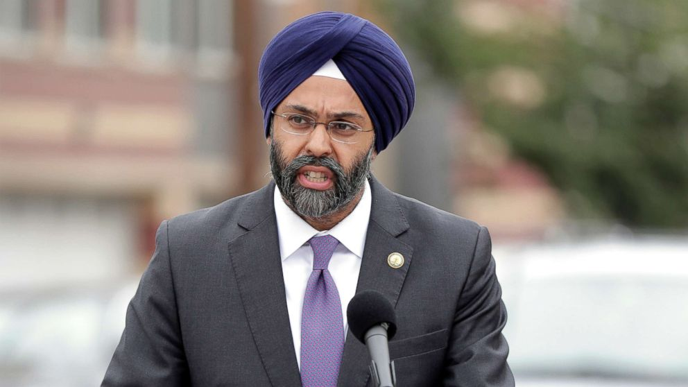 New Jersey Attorney General Gurbir Grewal speaks during a news conference in Newark, N.J., Aug. 1, 2018.