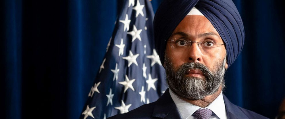 PHOTO: New Jersey Attorney General Gurbir Grewal during a bill signing ceremony at the state capital in Trenton, N.J., Aug. 5, 2019.