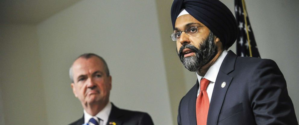 PHOTO: In this Dec. 12, 2017 file photo, Bergen County Prosecutor Gurbir Grewal addresses the press after Governor-elect Phil Murphy nominated him for attorney general in Trenton, N.J.