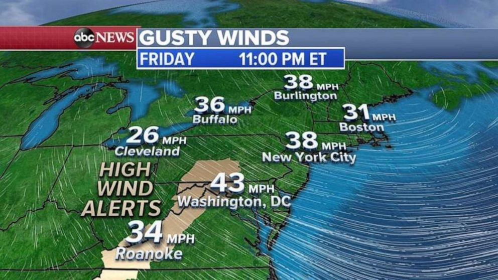 Gusty winds will move in behind the nor'easter and bring chilly weather.