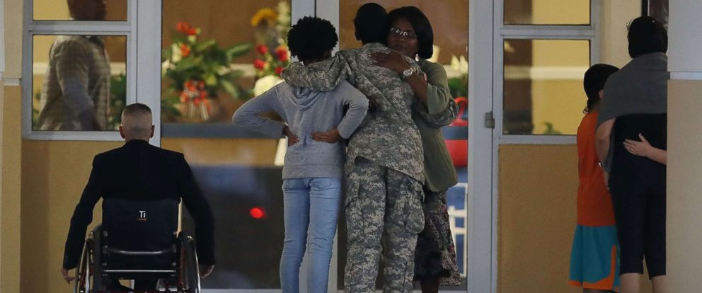 PHOTO: Mourners attend the viewing for U.S. Army Sgt. La David Johnson at the Christ the Rock Community Church on October 20, 2017 in Cooper City, Florida. Sgt. Johnson and three other American soldiers were killed in an ambush in Niger on Oct. 4.