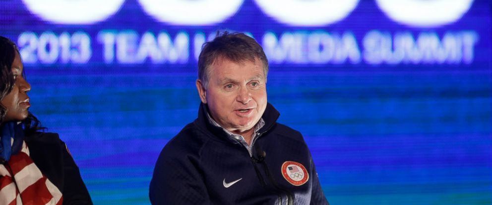 In this Oct. 1, 2013, file photo, Alan Ashley, chief of sport performance with the U.S. Olympic Committee, speaks with reporters during a news conference in Park City, Utah. The U.S. Olympic Committee has fired Ashley.