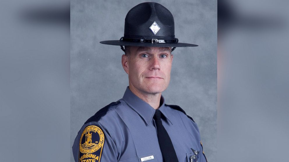 Virginia State Police  officer H. Jay Cullen seen in this image released by Virginia State police, Aug. 12, 2017.