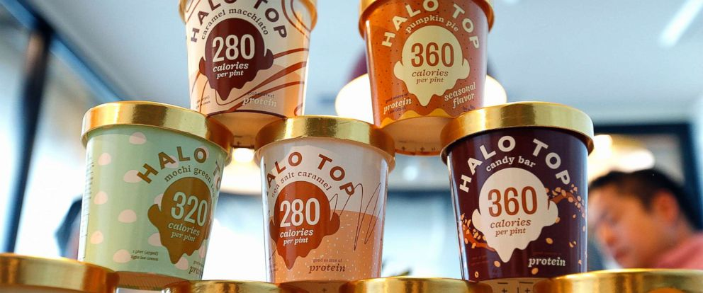 PHOTO: Halo Top has become one of the nations best selling pints of ice cream without its own manufacturing plant, Sept. 12, 2017, in Los Angeles, California.