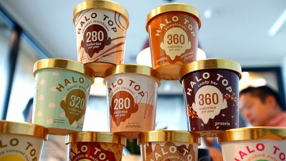 Halo Top has become one of the nation's best selling pints of ice cream without its own manufacturing plant, Sept. 12, 2017, in Los Angeles, California.