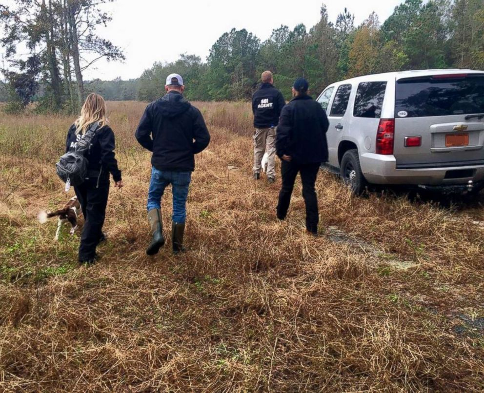 Law enforcement pursue investigative leads in their search for 13-year-old Hania Noelia Aguilar in Robeson County, N.C., Nov. 17, 2018.