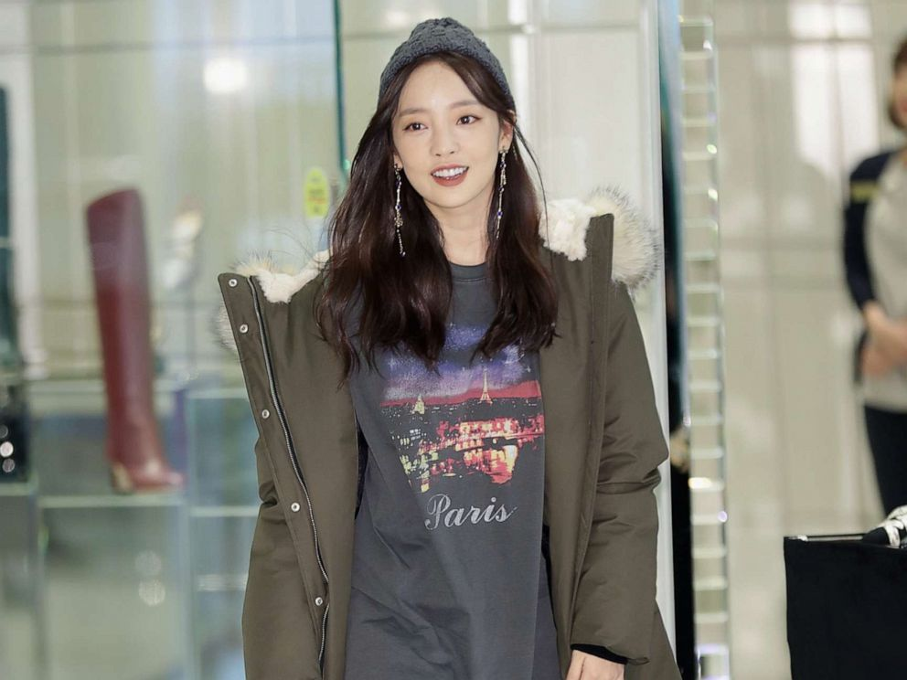 PHOTO: Former member of South Korean girl group KARA, Hara Goo attends the Mackage 2017 FW Collection photocall, Oct. 26, 2017, in Seoul, South Korea.