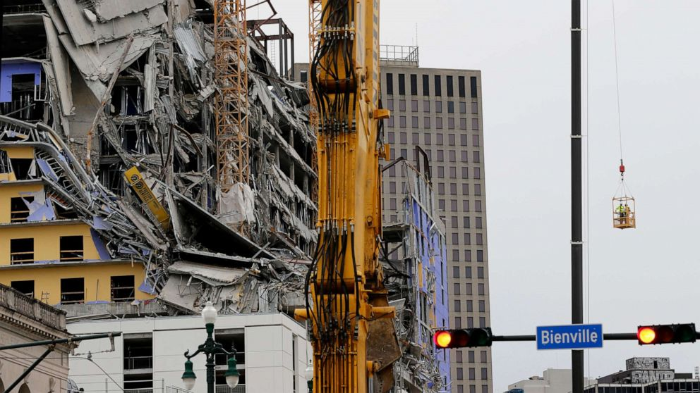 Bodies of 2 construction workers trapped in destroyed Hard ...