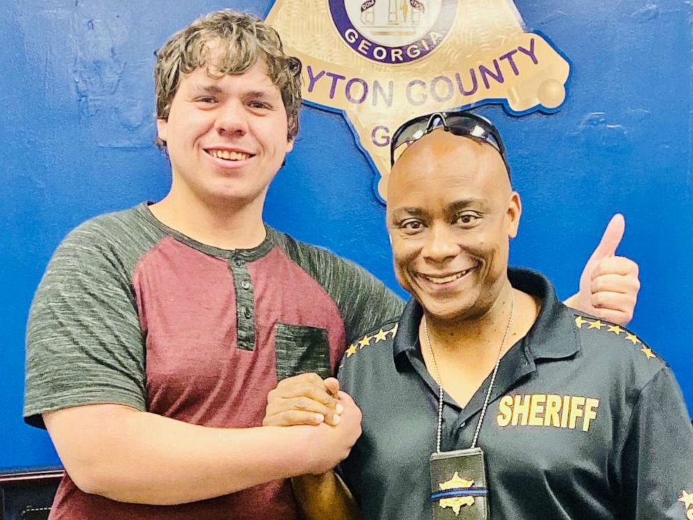 PHOTO: Bread delivery man Joseph Chilton was made an honorary deputy by Clayton County Sheriff Victor Hill after he helped stop an armed robbery at a Hardees in Georgia.
