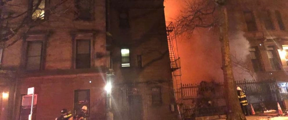 A firefighter died late Thursday fighting a blaze on the set of an Ed Norton movie in Harlem.