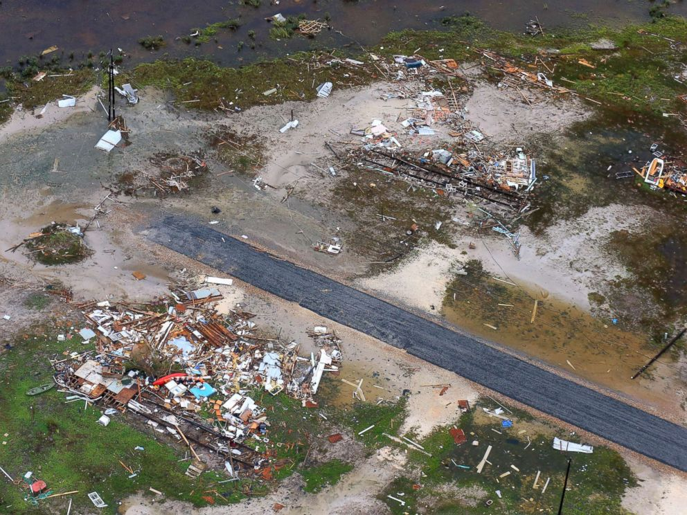 PHOTO: Damage in the wake of Hurricane Harvey, Aug. 28, 2017, in Corpus Christi, Texas.