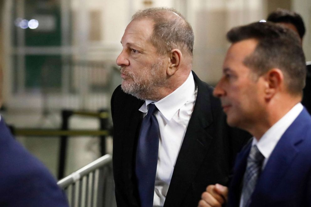 PHOTO: Harvey Weinstein leaves State Supreme Court, in New York, April 26, 2019.