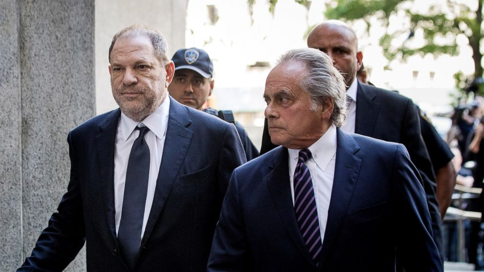 Harvey Weinstein and attorney Benjamin Brafman arrive at State Supreme Court, June 5, 2018, in New York City.