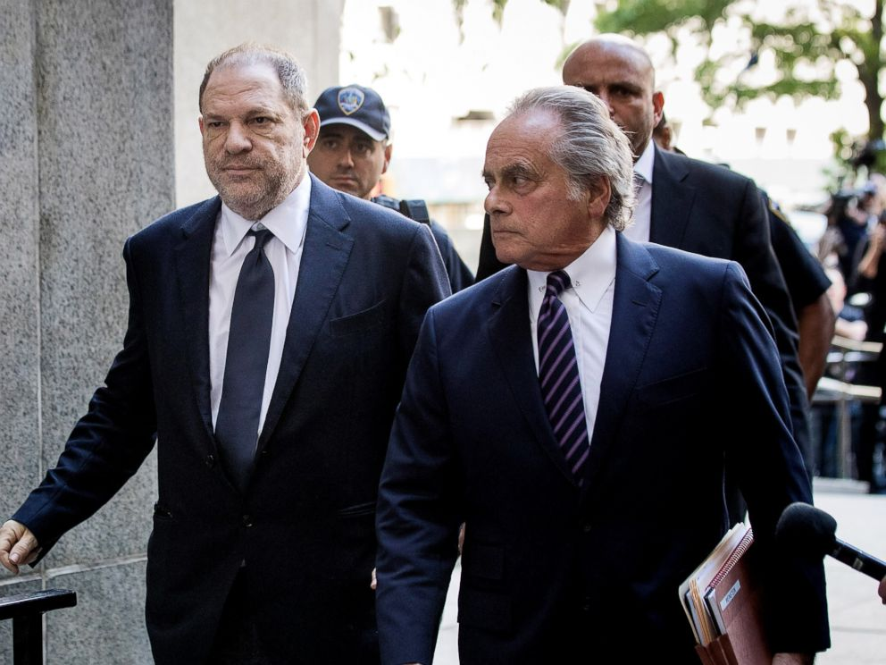 PHOTO: Harvey Weinstein and attorney Benjamin Brafman arrive at State Supreme Court, June 5, 2018, in New York City.