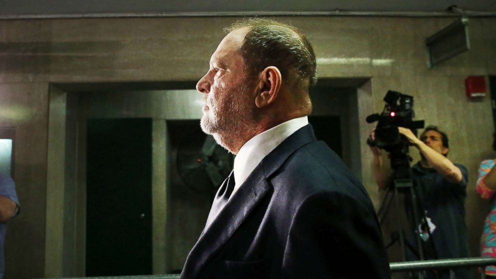 Harvey Weinstein arrives to plead not guilty to three felony counts in New York Supreme Court, June 5, 2018, in New York City.