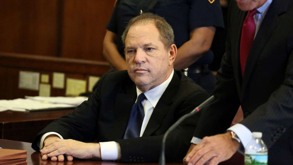 Harvey Weinstein appears at his arraignment in Manhattan Criminal Court on July 9, 2018 in New York.