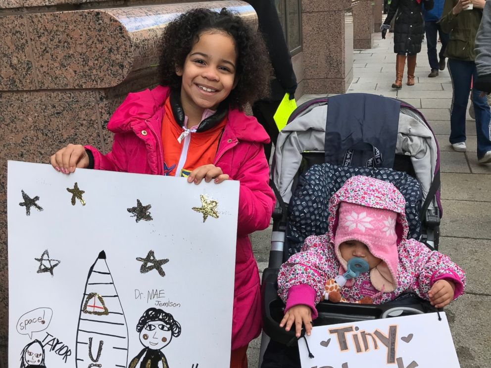 Havana Chapman-Edwards, left, attended the March for Our Lives in Washington, D.C., with her family on March 24, 2018.