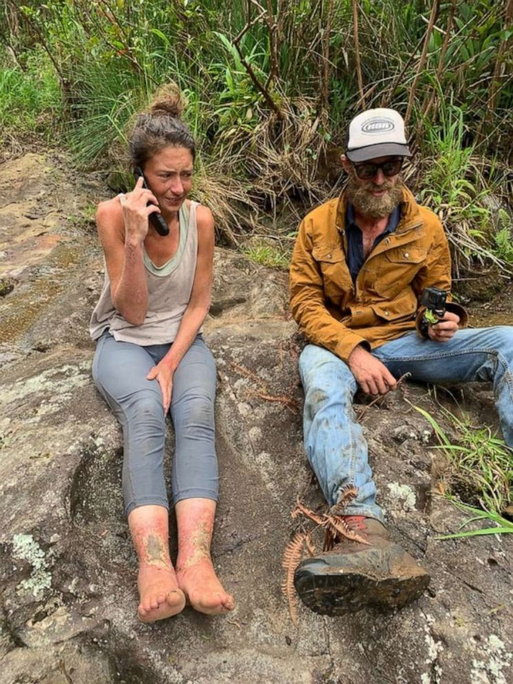 PHOTO: Hiker Amanda Eller was found after missing for 17 days, May 24, 2019, at Makawao Forest Reserve on the Hawaiian Island of Maui.