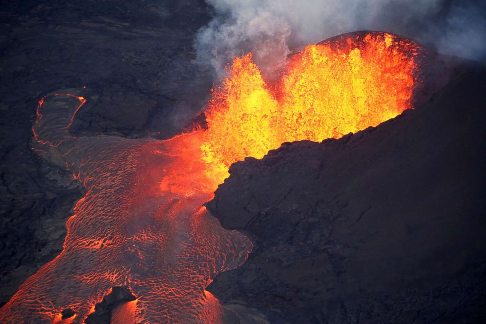 Satellite images show effects of Kilauea volcano's latest