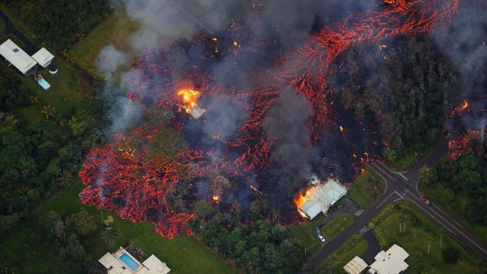 Photos Hawaii Volcano Erupts Rivers Of Fire And Lava