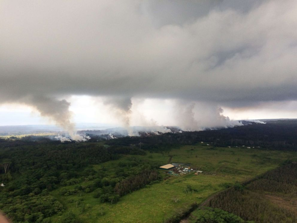 PHOTO: A view is captured from the Hawaiian Volcano Observatory in Kilauea, Hawaii, May 17, 2018.