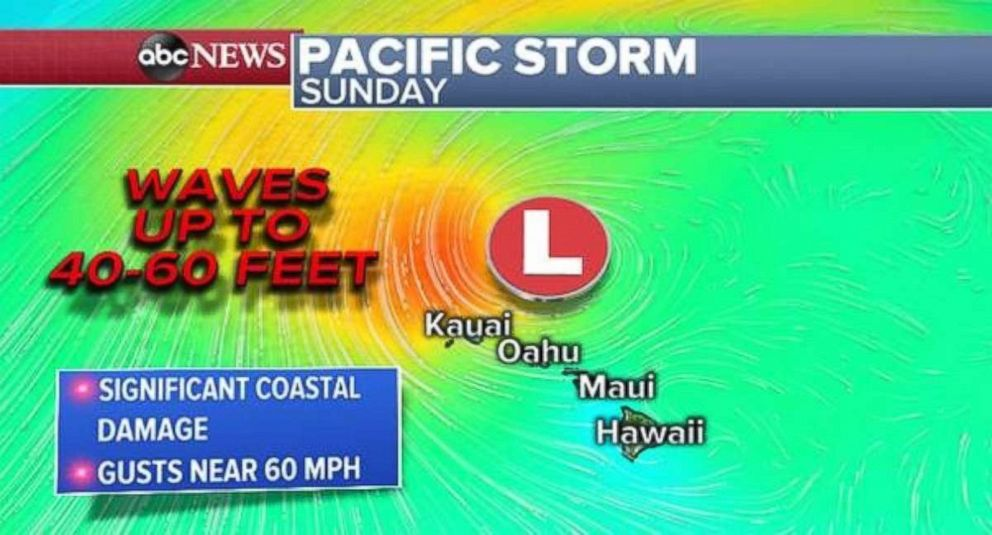 PHOTO: Hawaii could see waves up to 60 feet from the storm.