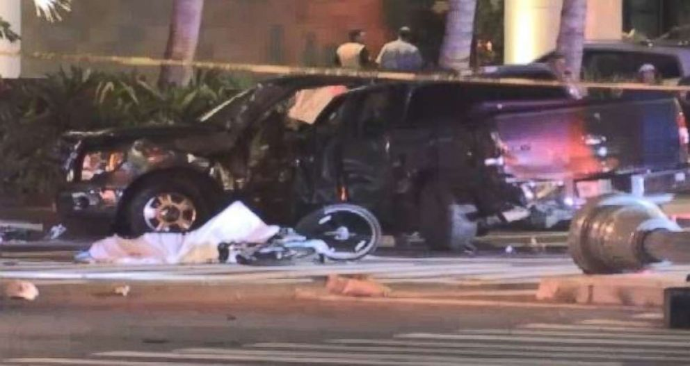 Three people died and five more were injured in a crash involving pedestrians Monday night in Honolulu.