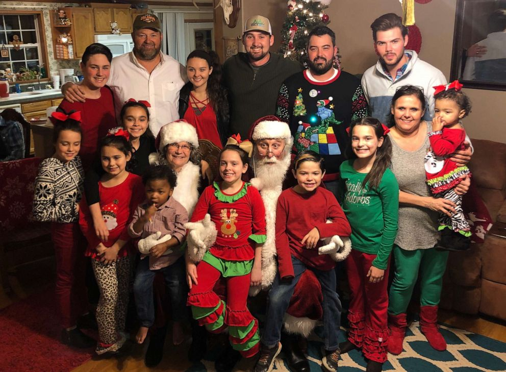 PHOTO: The Hawthorn family celebrates Christmas together.