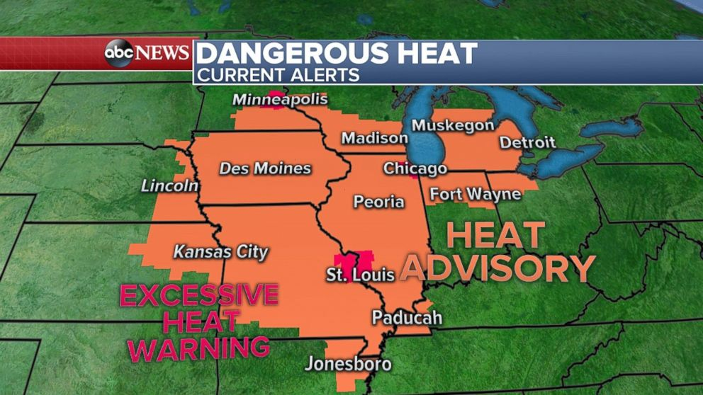 Hot weather in store for eastern half of country on Father's