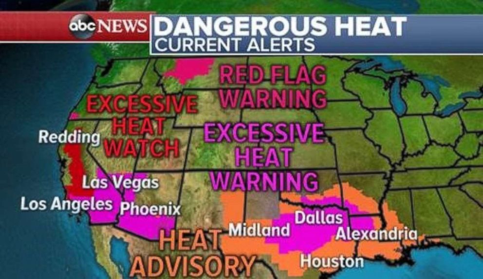 Record-breaking heat is in place across much of the western U.S.