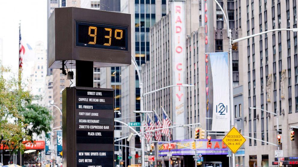 100 derajat panas adalah Selatan sebagai musim gugur suhu kembali ke Timur laut