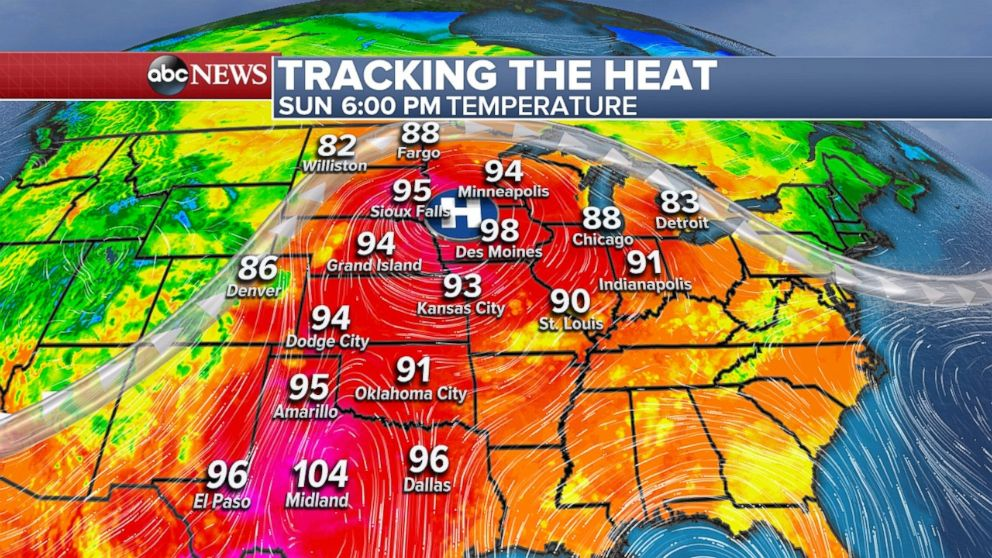 While the Southeast deals with Alberto it will be hot in the central U.S. on Sunday and Monday