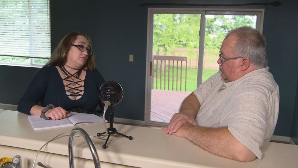 """PHOTO: Heather Robinson interviewed her adoptive father, Donald Robinson, for her future podcast """"The Lisa Stasi Effect"""" which she shared with """"20/20."""""""