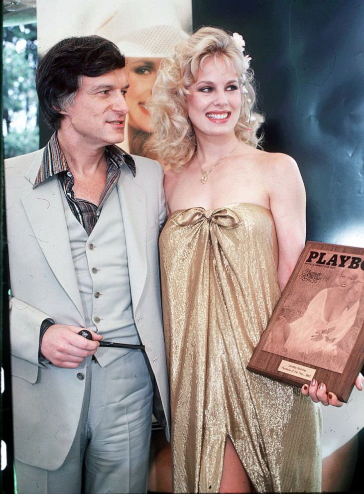 PHOTO: Hugh Hefner and Playboy Playmate Dorothy Stratten, circa 1980.