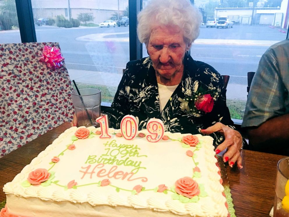 PHOTO: The Montana Club in Missoula, Montana, paid 109-year-old Helen Self, seen here, to eat there on Aug. 17 as part of their birthday discount.
