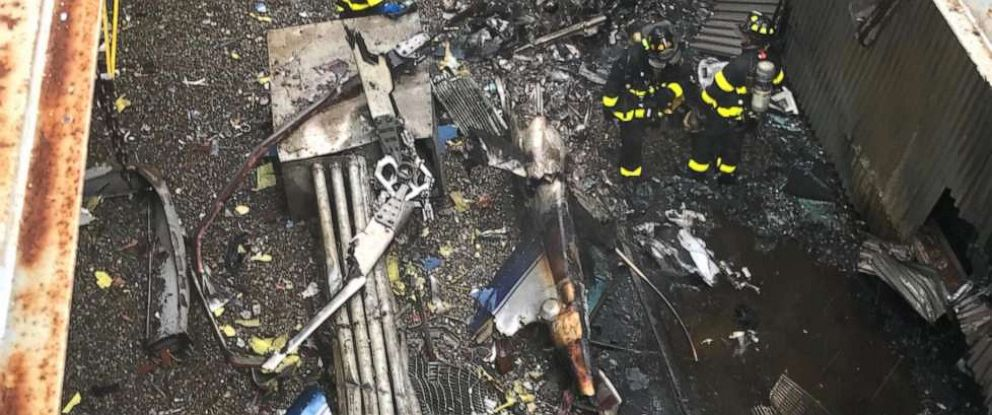 Helicopter crash on NYC building roof leaves pilot dead amid