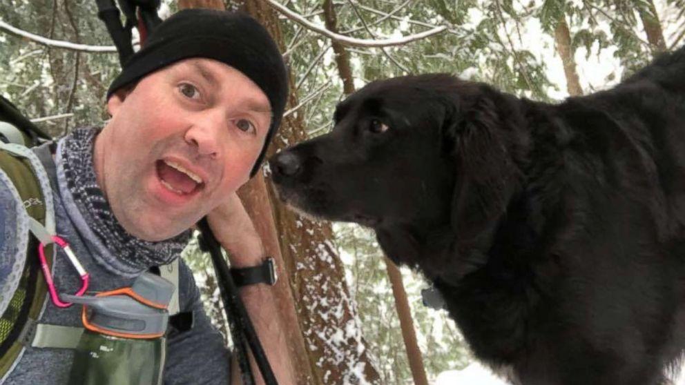 Scott Brown made a new friend on a recent hike.