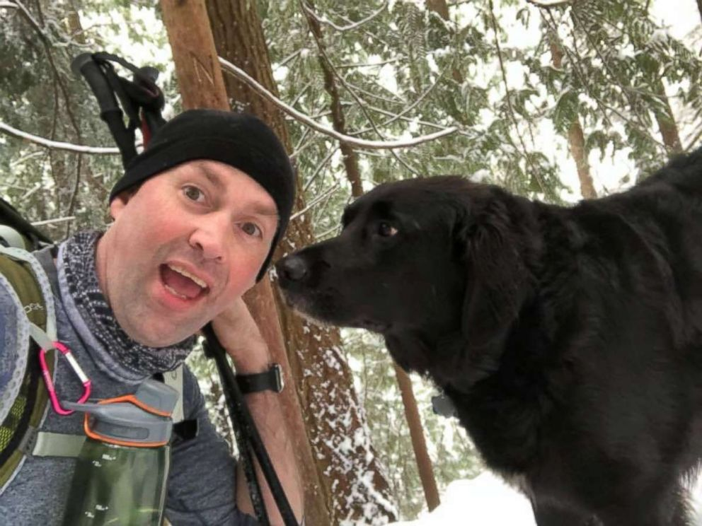 Scott Brown made a new friend on a recent hike.